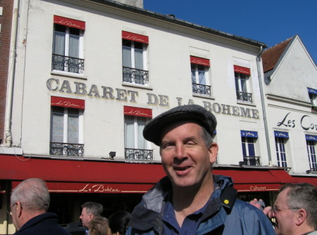 Mike standing in Mont Martre
