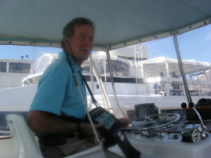 Mike at the helm