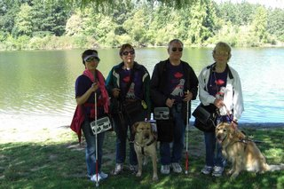 Bob, Sheh, Teresa, and Karen at Beaver Lake