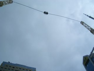 The bungy at it's highest point,