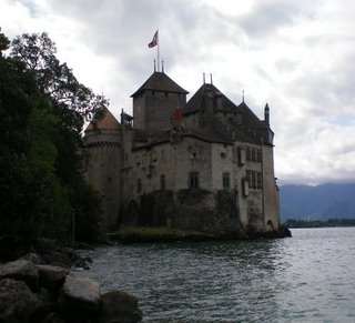 view of the castle on Lake Geneva