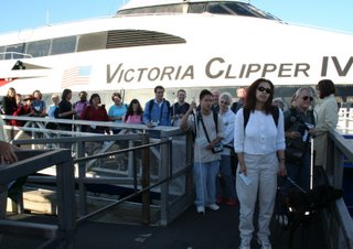 WayFun group disembarking the ferry... Look out Victoria!