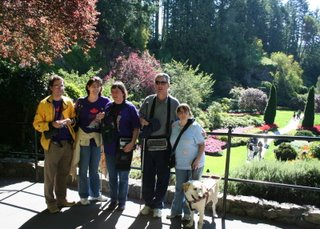 Charles, Theresa, Ilona, Paul and Kathy pose at the Sunken Gardens Lookout