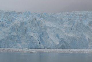 Bluish rippled Glacier ice