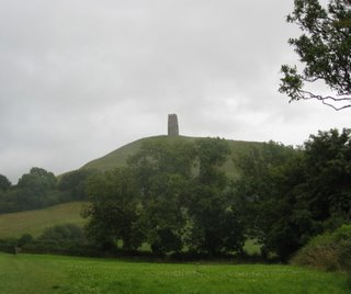 Glastonbury Tor in the distance
