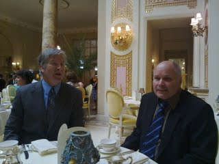 Mike and Mark at the Ritz tea time