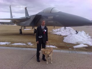 Mike in front of a jet
