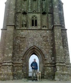 Mike standing at Glastonbury Tor