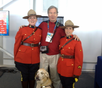 Mike with the Royal Canadian Mounted Police