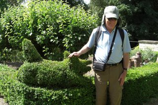 Topiary pig at the Iford Gardens