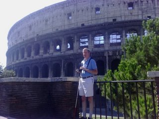 Mike outside the Roman Colosseum