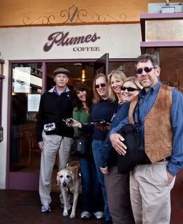 Mike's team successfully arrives at Plumes Coffee