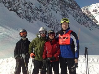 Mike and family skiing in Portillo Chile