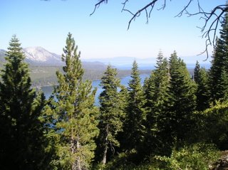 the view of Fallen Leaf Lake