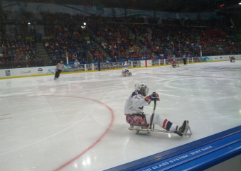 Sledge hockey game