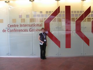 Vieve at the World Blind Union Conference at the International Conference Center