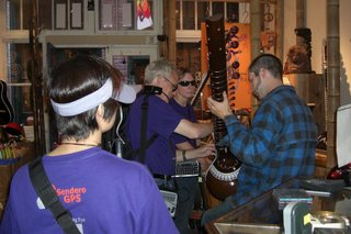 Bob getting Sitar lessons in a music store in Fantan Alley
