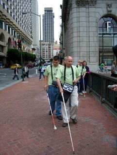 Mark and Chris leading one group through the streets of San Francisco