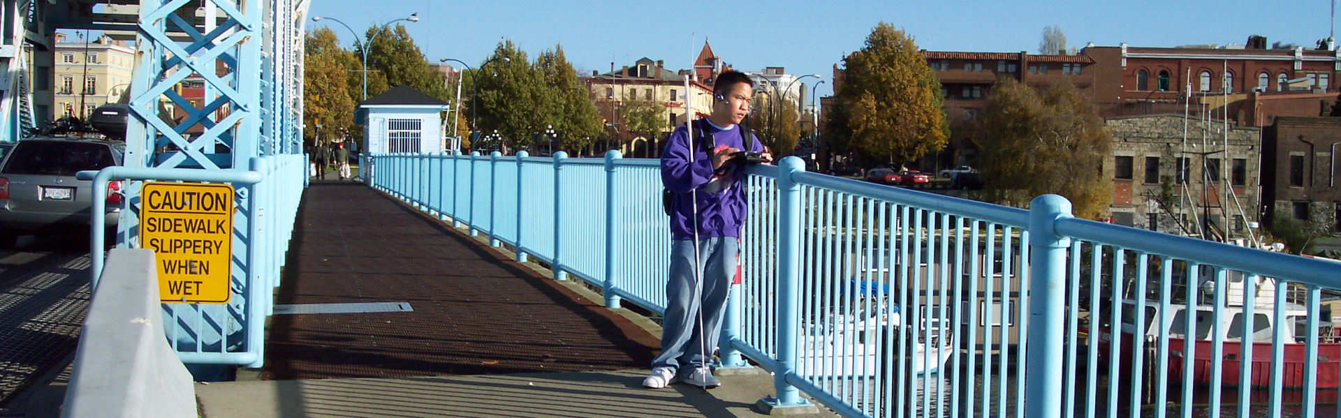 GPS User exploring a new city with Accessible GPS