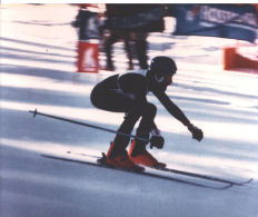 Mike holds the record for downhill blind speed skiing of 65 MPH