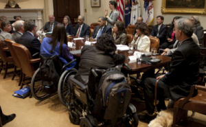 Mike meeting with President Obama about accesibility