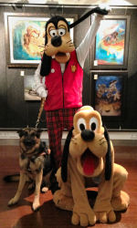 Tanker with the Disney dogs, Pluto and Goofy